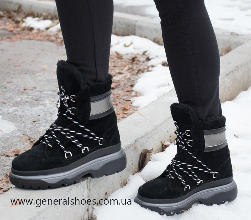 Зимние женские ботинки GL 324 черные фото 9