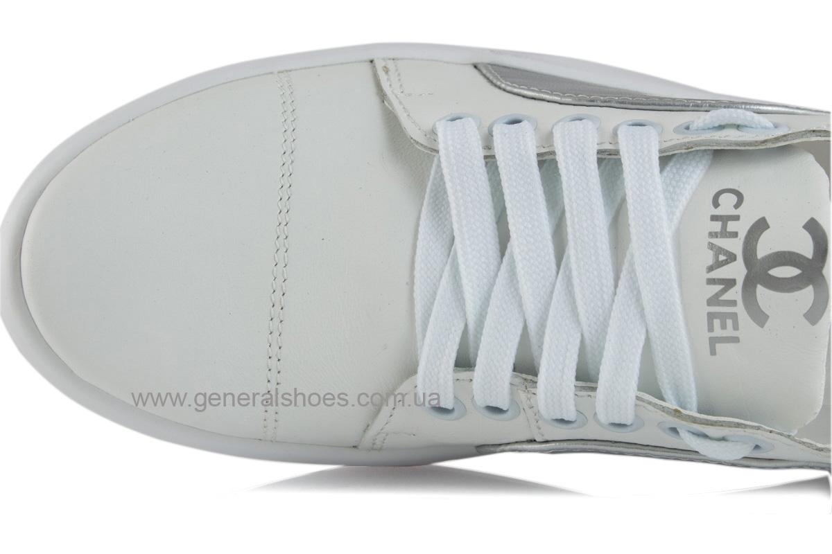 Кроссовки женские кожаные 140 белые фото 5