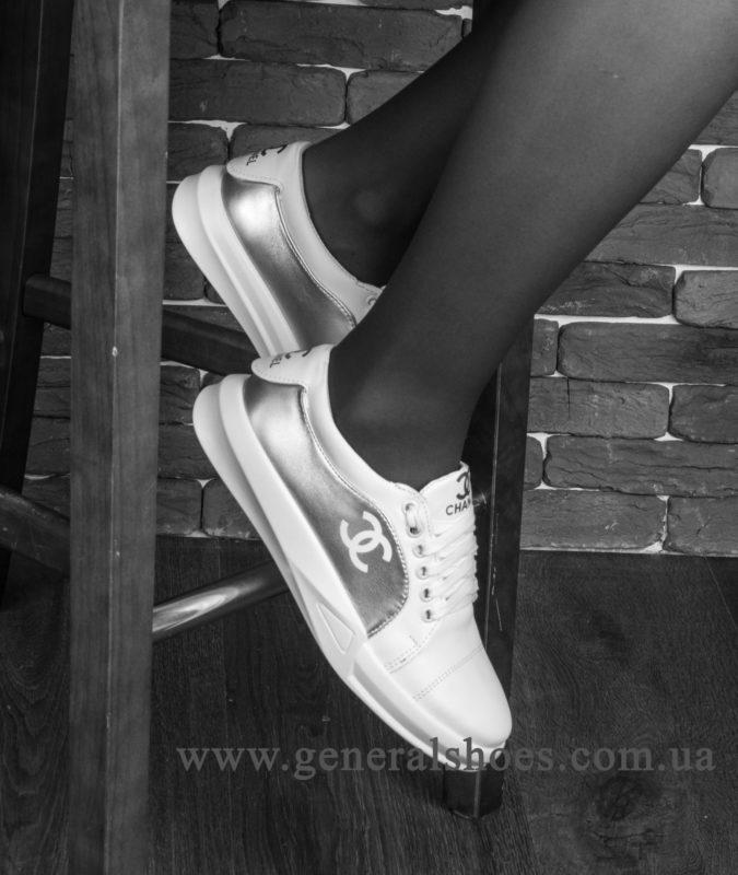 Кроссовки женские кожаные GL 140 белые фото 9