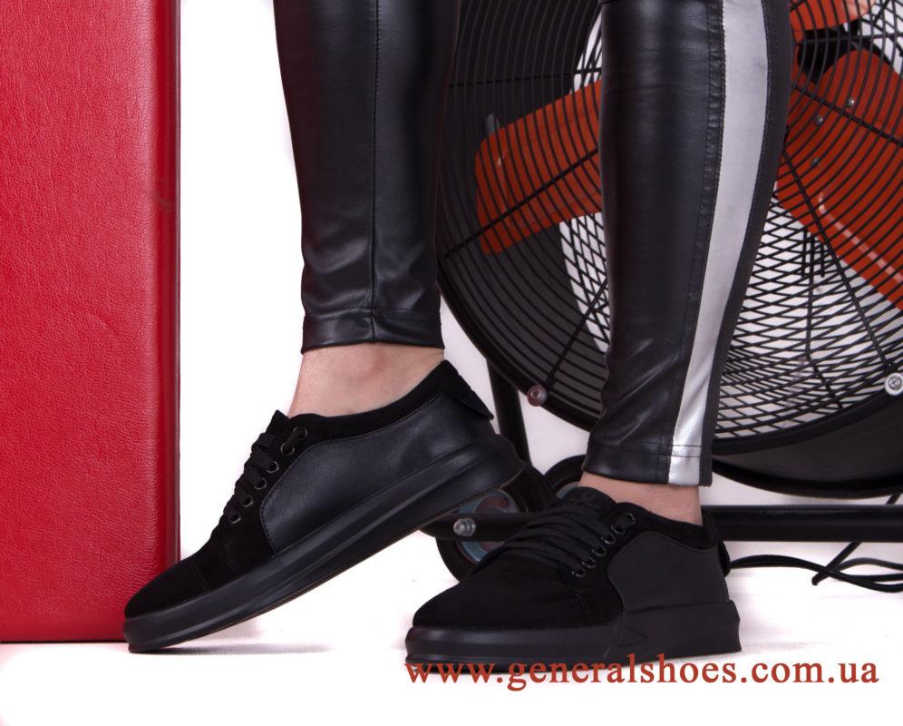 Кроссовки женские кожаные GL 140 черные