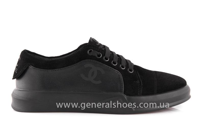 Кроссовки женские кожаные GL 140 черные фото 2