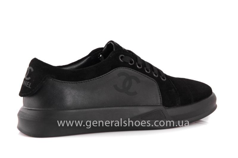 Кроссовки женские кожаные GL 140 черные фото 3