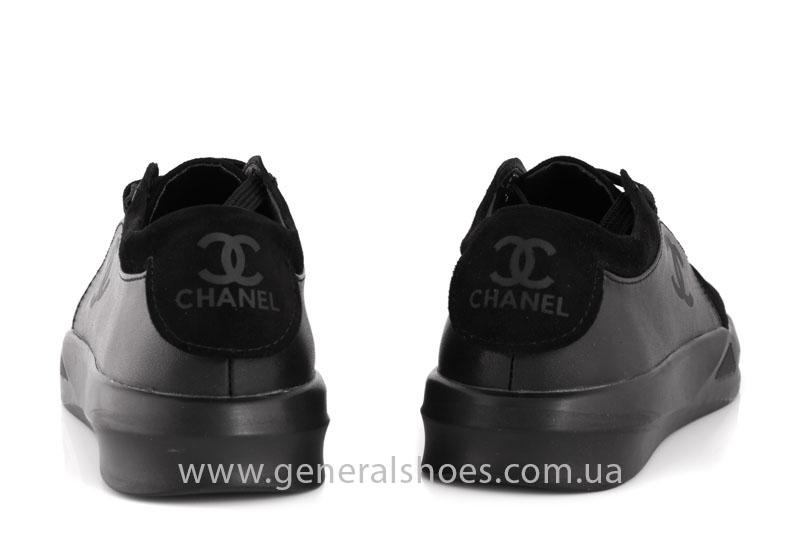 Кроссовки женские кожаные GL 140 черные фото 4