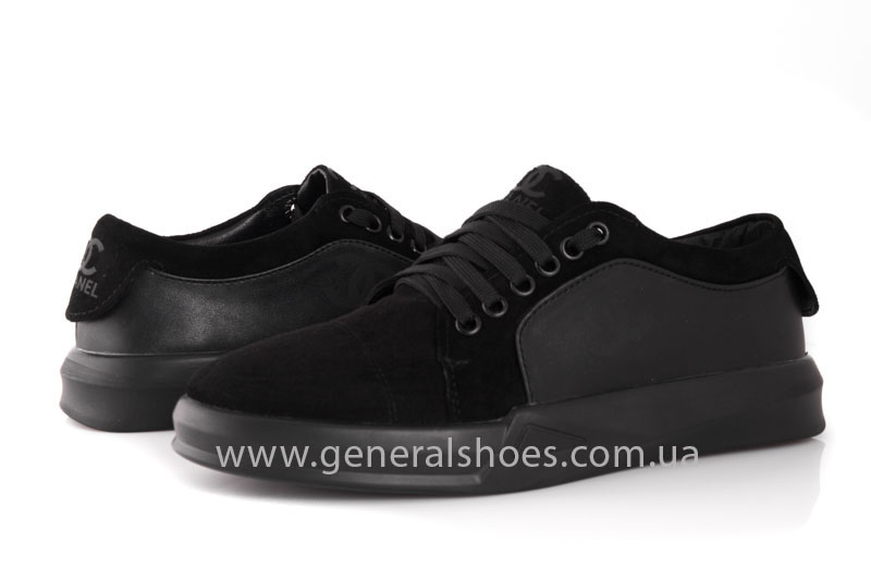 Кроссовки женские кожаные GL 140 черные фото 8