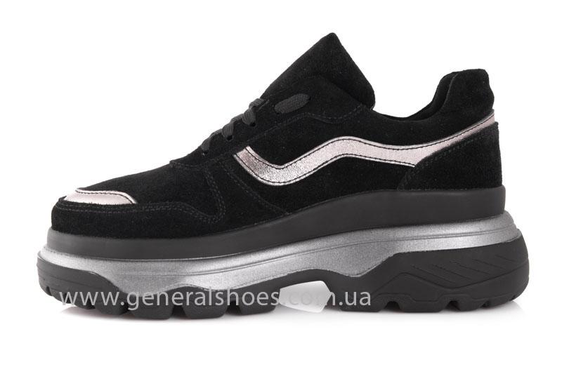 Кроссовки женские замшевые GL 241 черные фото 5