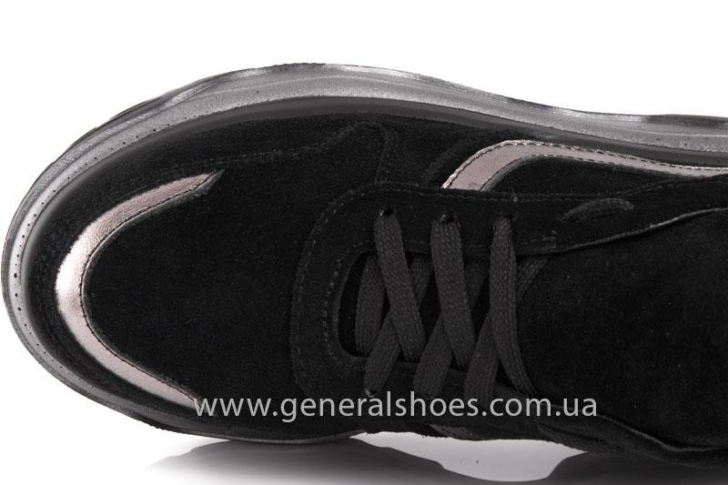 Кроссовки женские замшевые GL 241 черные фото 6