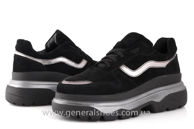 Кроссовки женские замшевые GL 241 черные фото 8