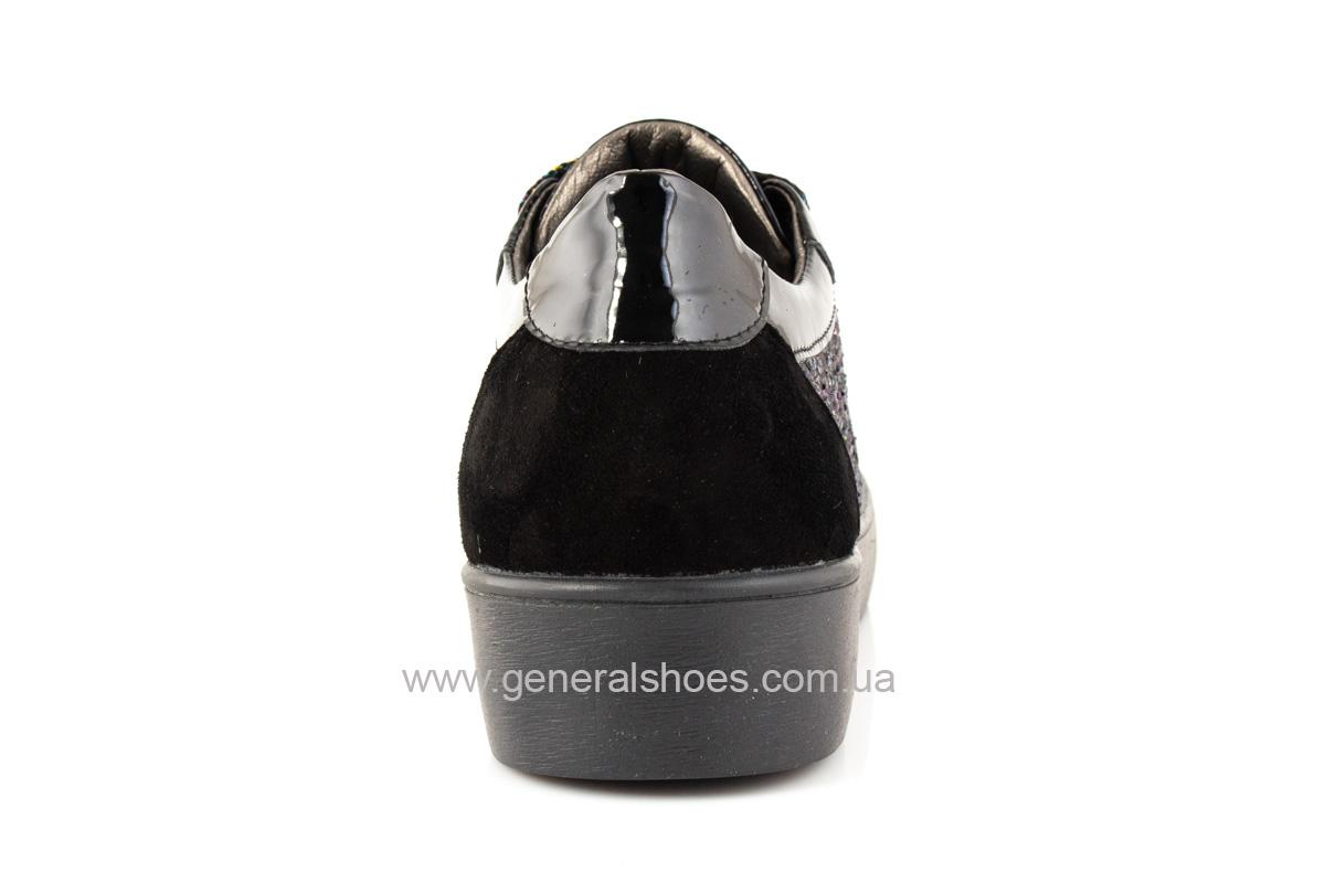 Кроссовки женские 5015 черные нубук фото 4