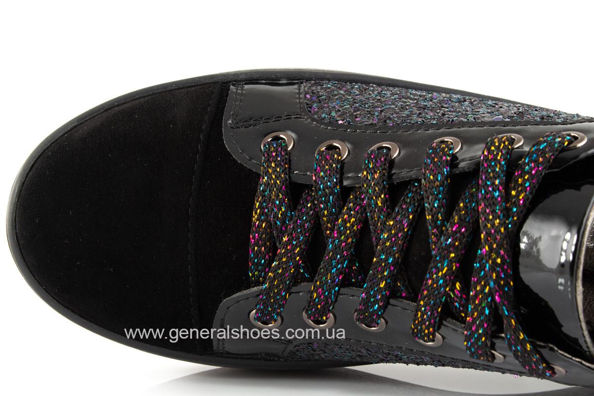 Кроссовки женские 5015 черные нубук фото 6
