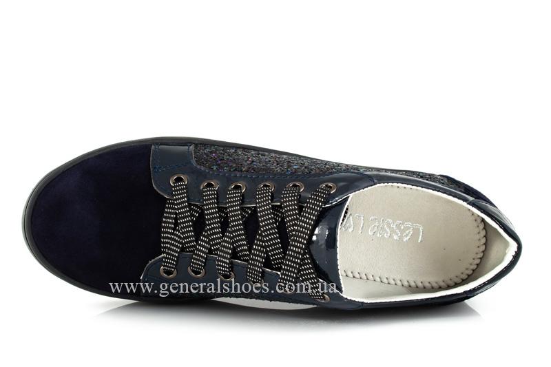 Кроссовки женские 5015 синие нубук фото 5