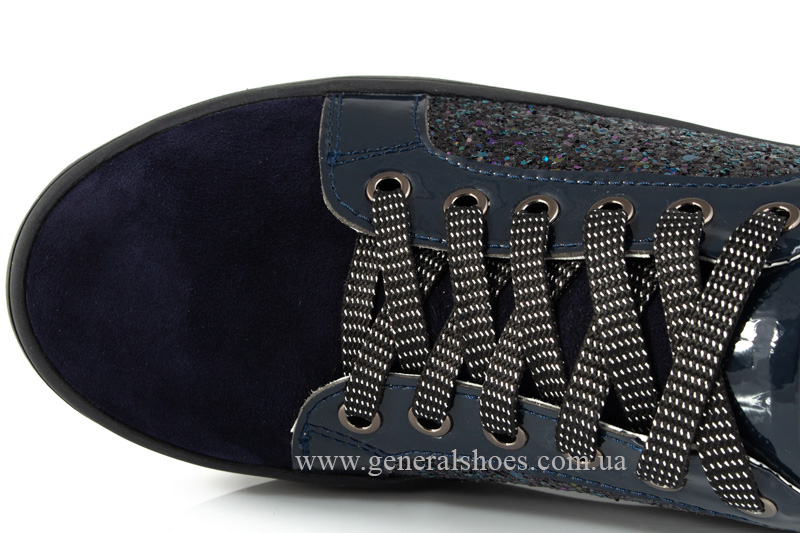 Кроссовки женские 5015 синие нубук фото 6