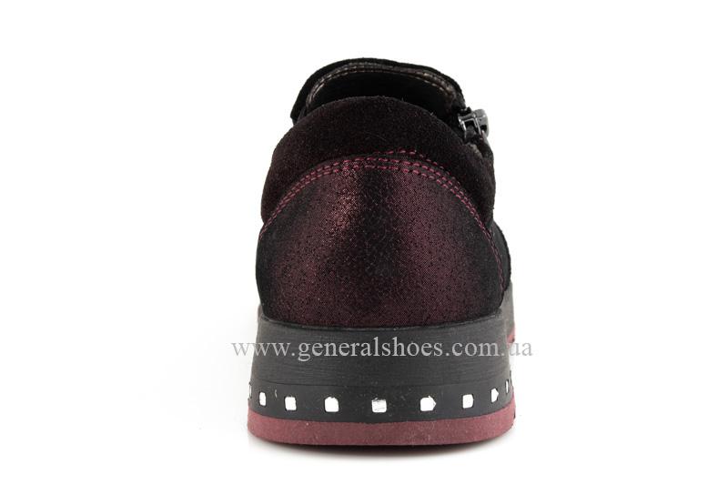 Кроссовки женские кожаные 2512 бордо фото 4
