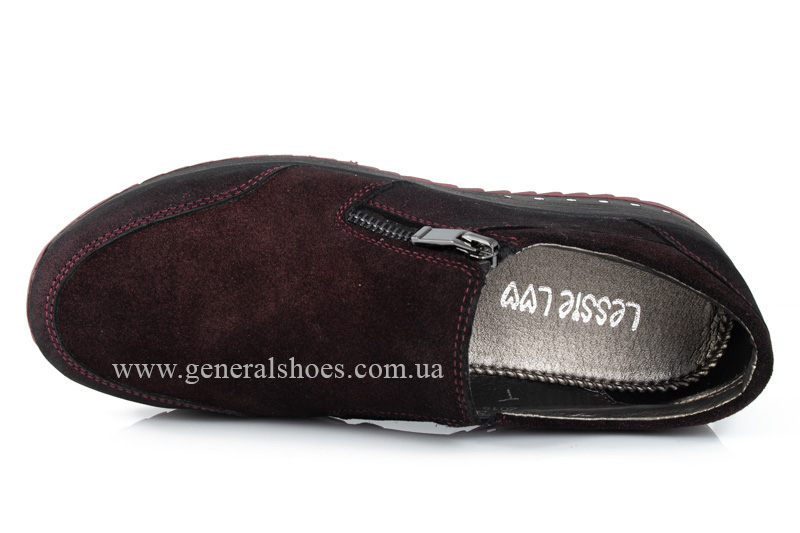 Кроссовки женские кожаные 2512 бордо фото 6