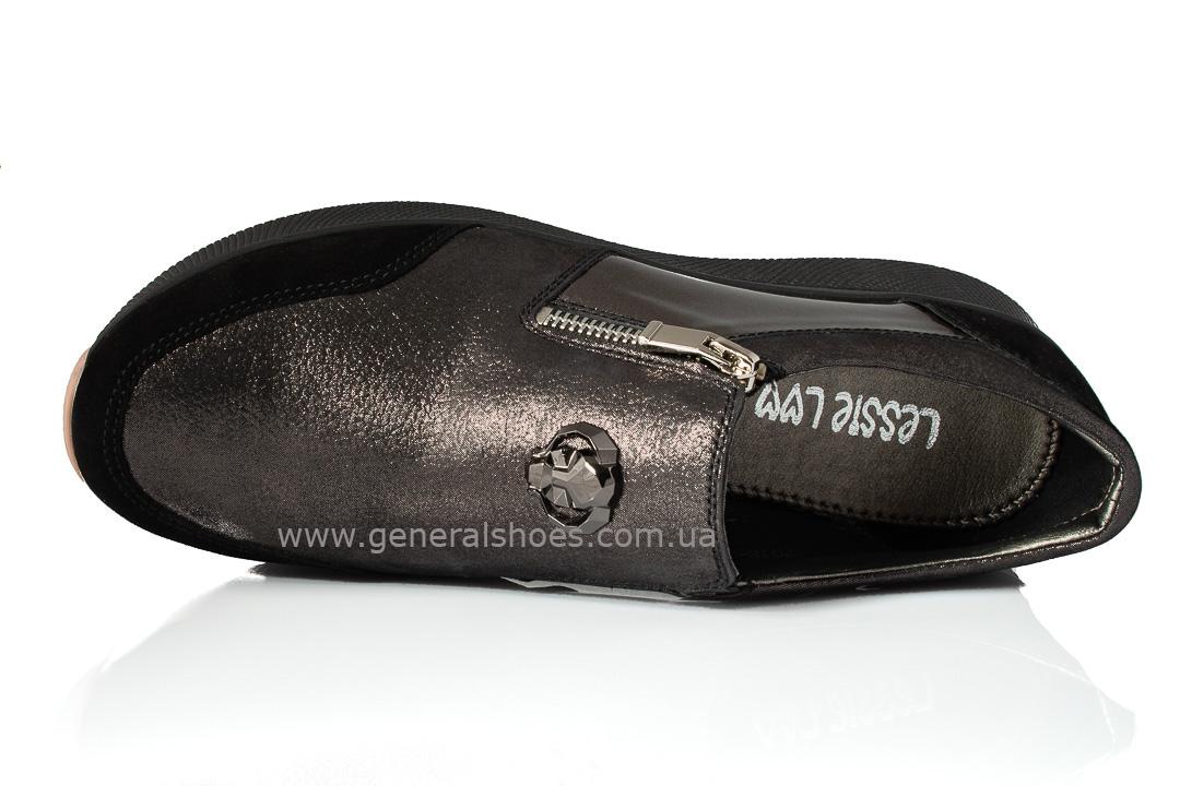 Кроссовки женские кожаные 2517 бронза фото 6