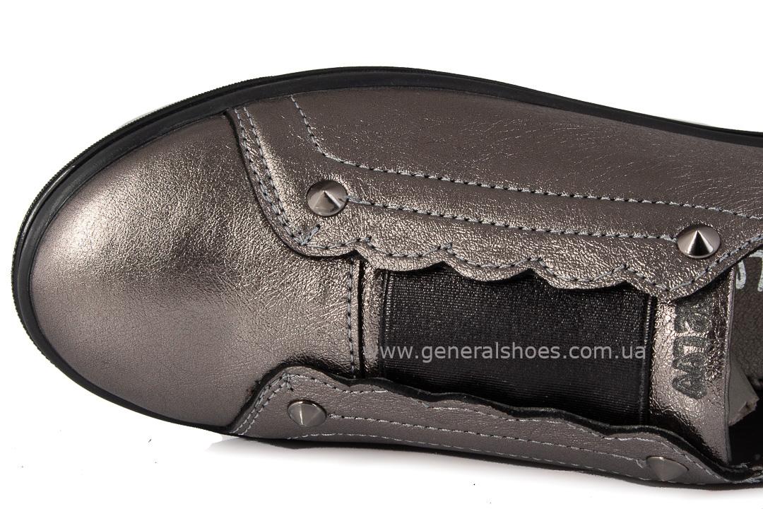 Кроссовки женские кожаные 275 бронза фото 5