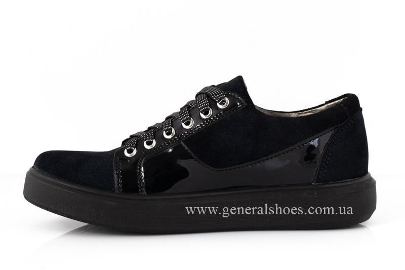 Кроссовки женские кожаные 3532 темно синие фото5