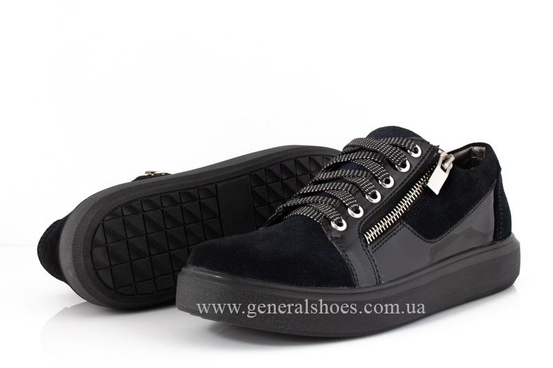 Кроссовки женские кожаные 3532 темно синие фото 9