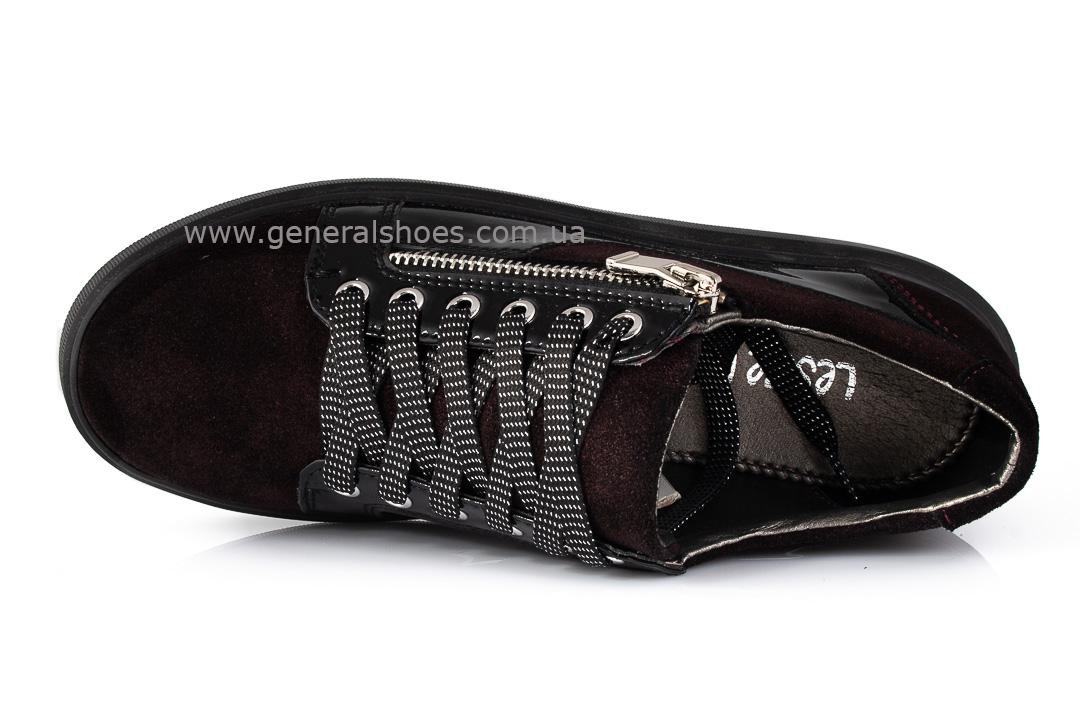 Кроссовки женские кожаные 3534 бордо фото 6