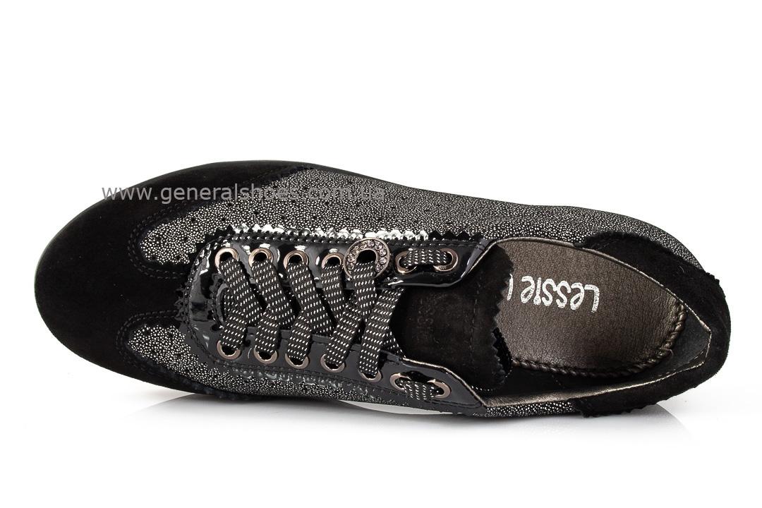 Кроссовки женские кожаные 4550 черные фото 5