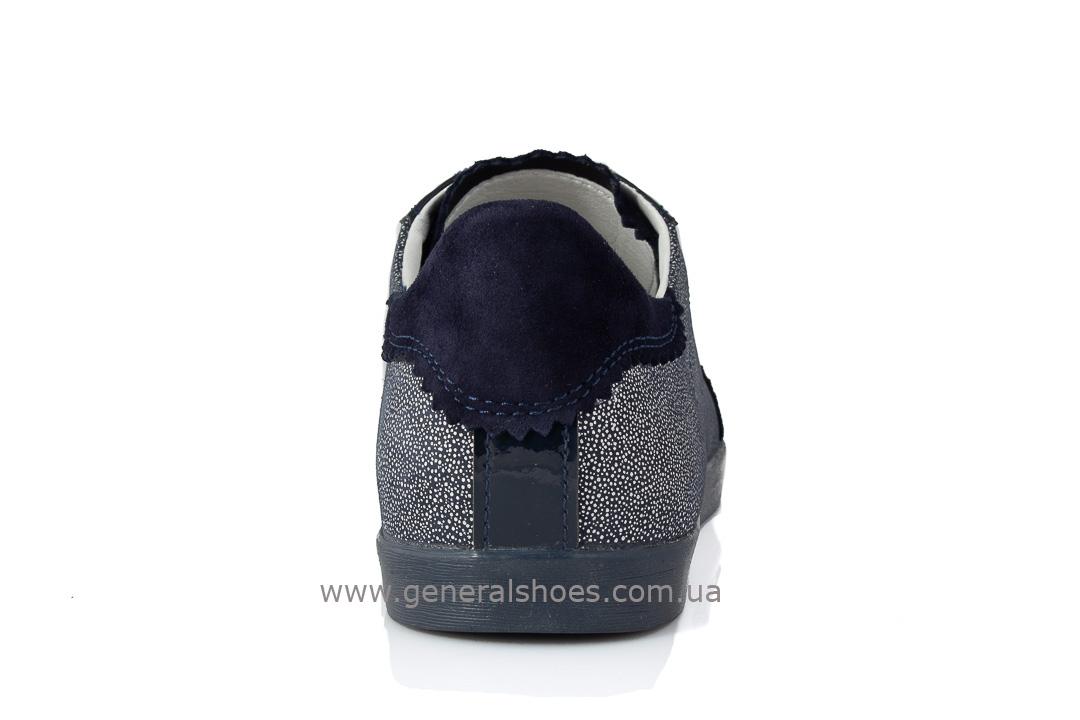 Кроссовки женские кожаные 4550 синие фото 4