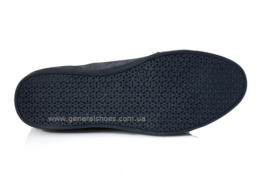 Кроссовки женские кожаные 4550 синие фото 9