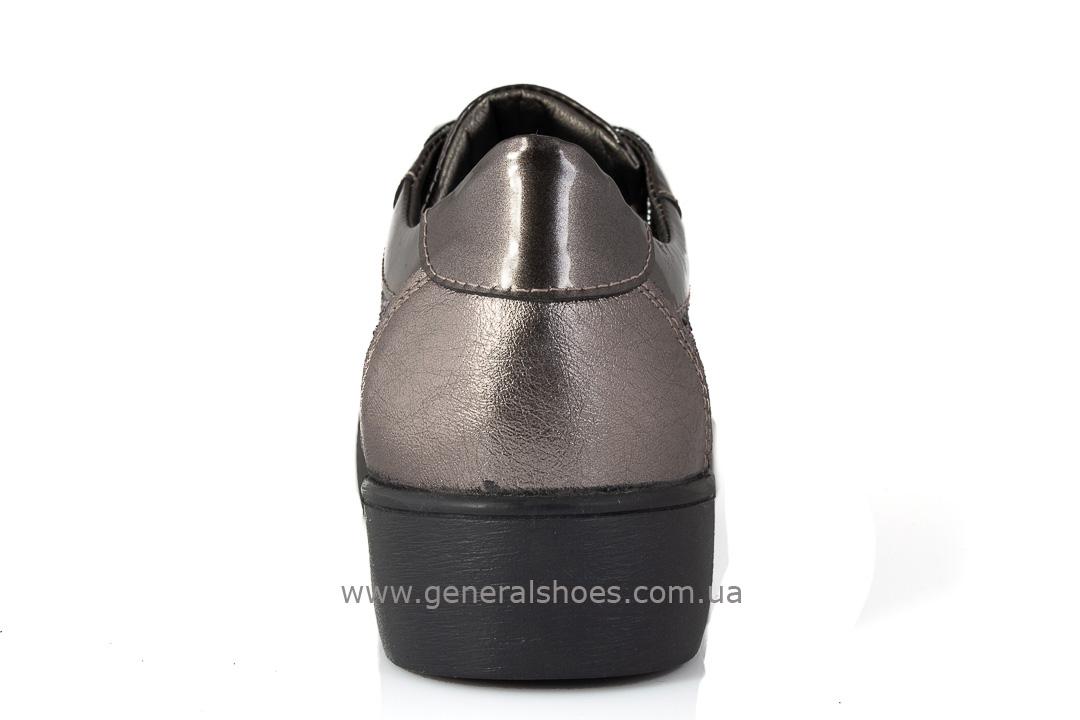 Кроссовки женские кожаные 475 бронза фото 4