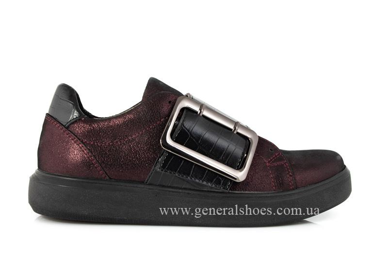 Кроссовки женские кожаные 5012 бордо фото 2
