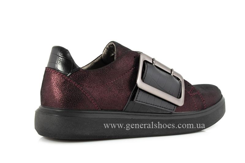 Кроссовки женские кожаные 5012 бордо фото 3