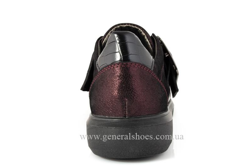 Кроссовки женские кожаные 5012 бордо фото 4
