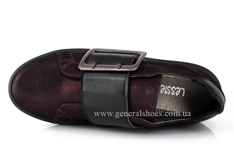 Кроссовки женские кожаные 5012 бордо фото 6