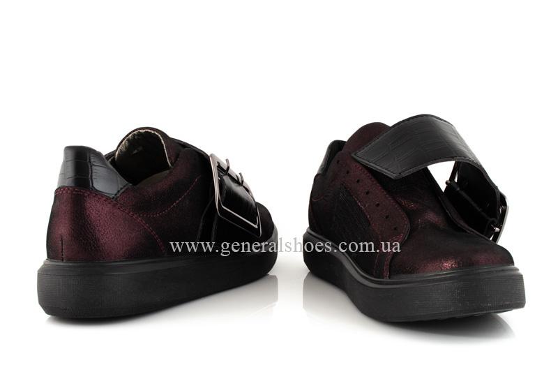 Кроссовки женские кожаные 5012 бордо фото 8