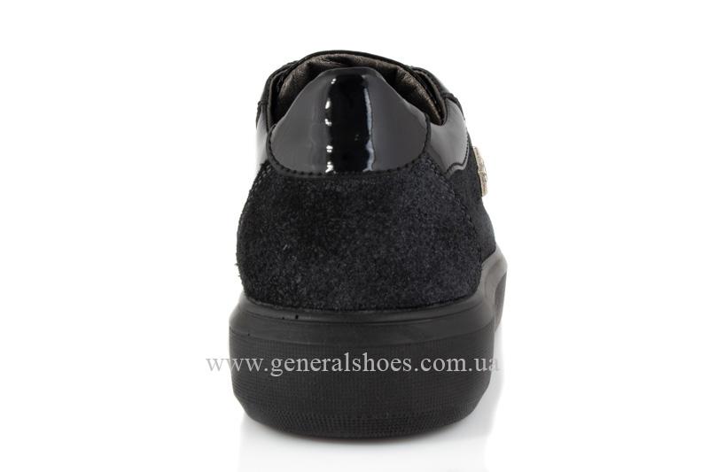 Кроссовки женские кожаные 5020 черные фото 4