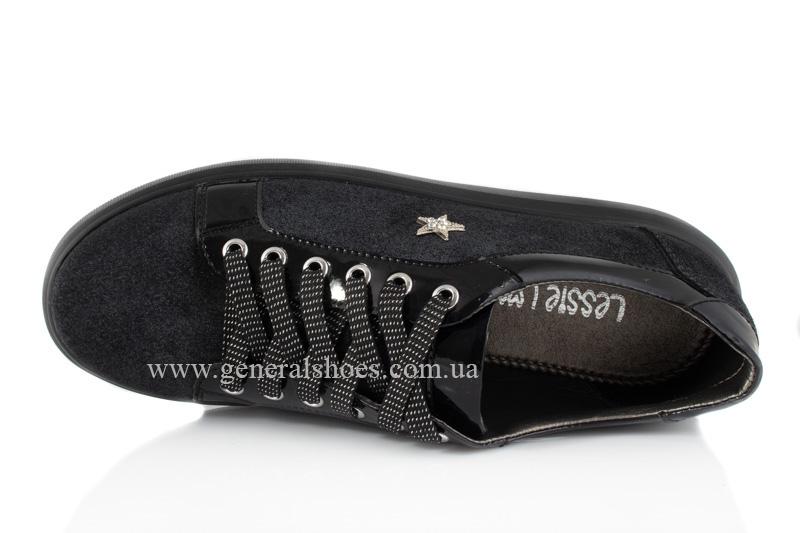 Кроссовки женские кожаные 5020 черные фото 6