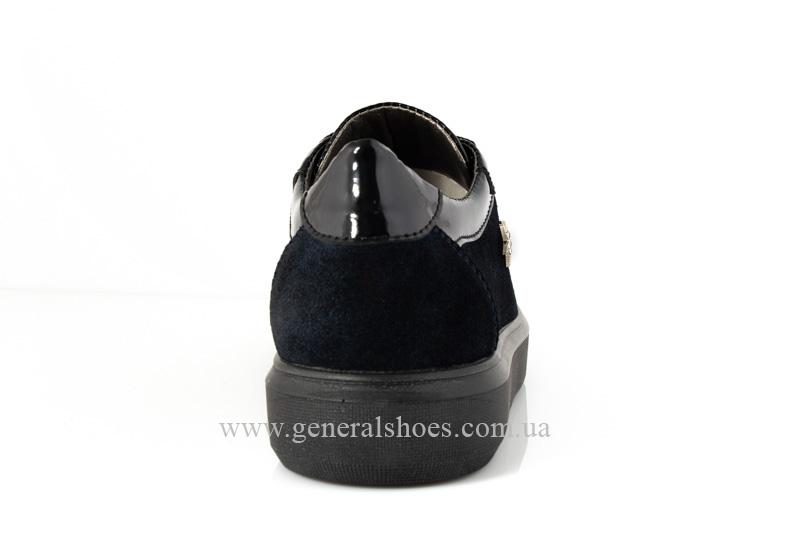 Кроссовки женские кожаные 5025 синие фото 4