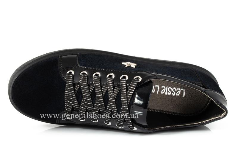 Кроссовки женские кожаные 5025 синие фото 6