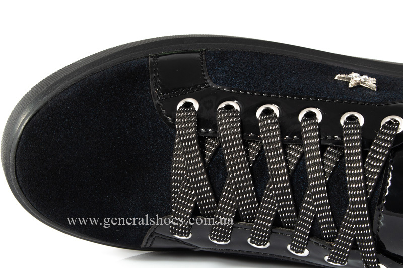 Кроссовки женские кожаные 5025 синие фото 7