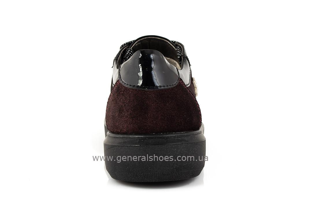 Кроссовки женские кожаные 5030 бордо фото 4