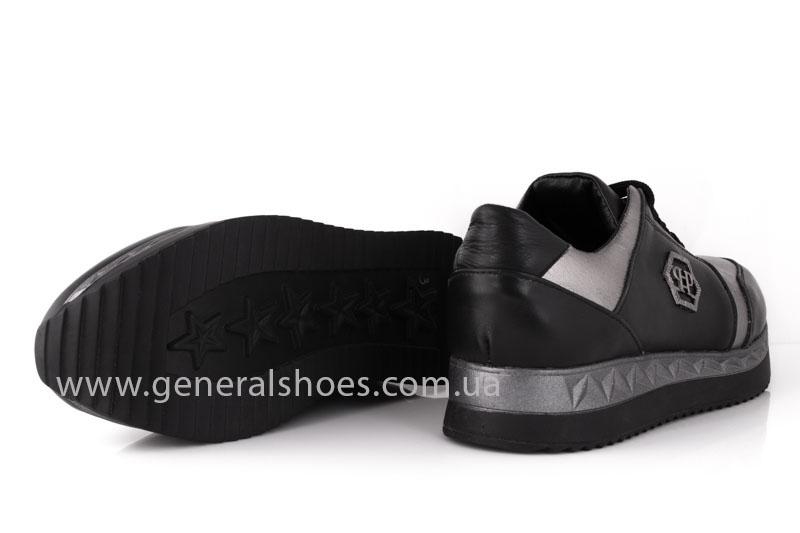Кроссовки женские кожаные GL 1601 черные бронза фото 10