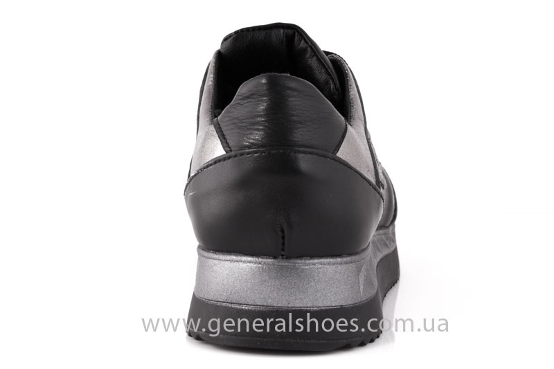 Кроссовки женские кожаные GL 1601 черные бронза фото 4