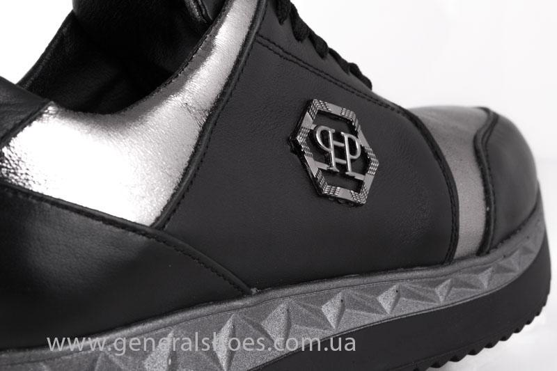 Кроссовки женские кожаные GL 1601 черные бронза фото 7