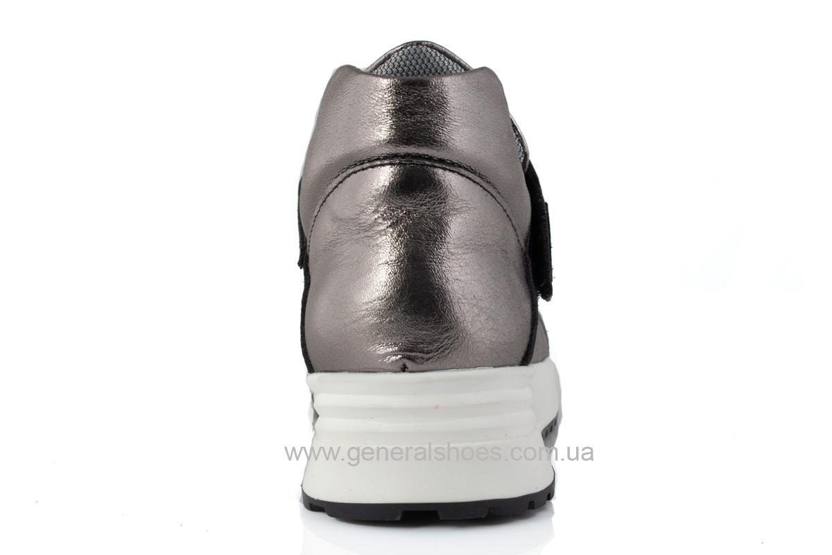 Женские кожаные кроссовки C2 бронза фото 4
