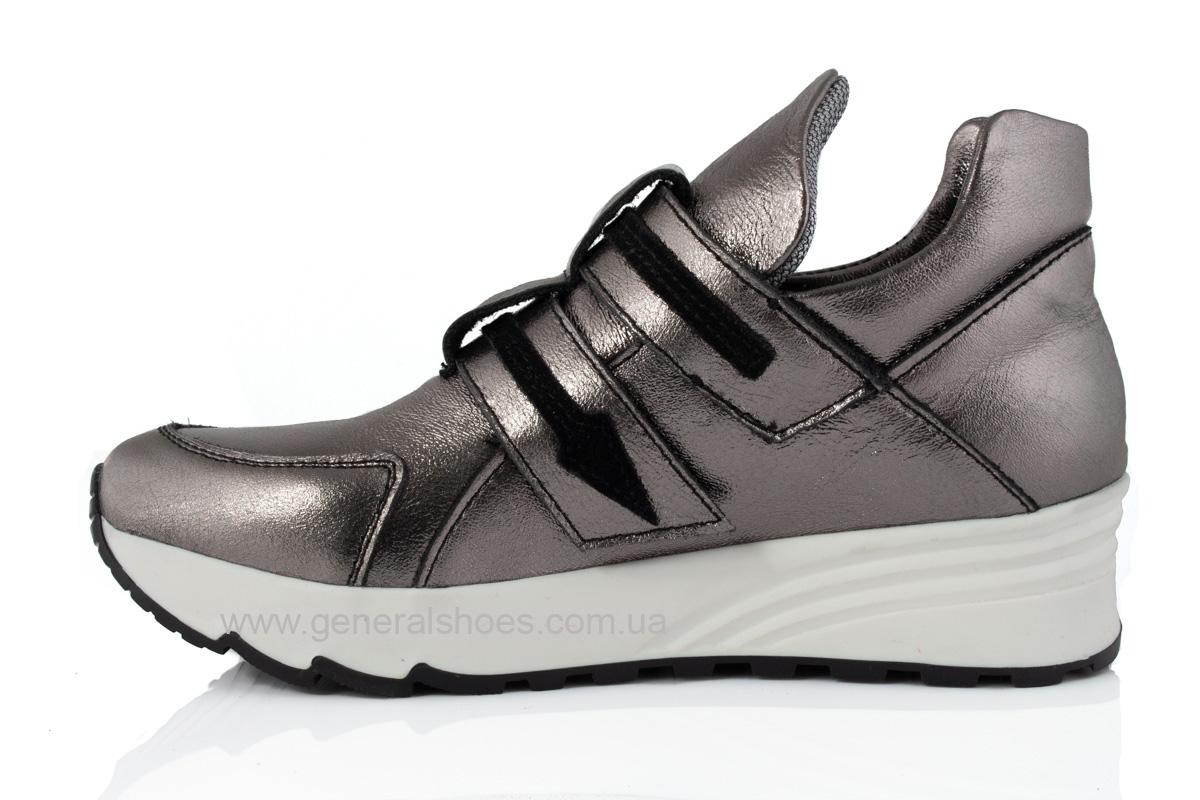 Женские кожаные кроссовки C2 бронза фото 5