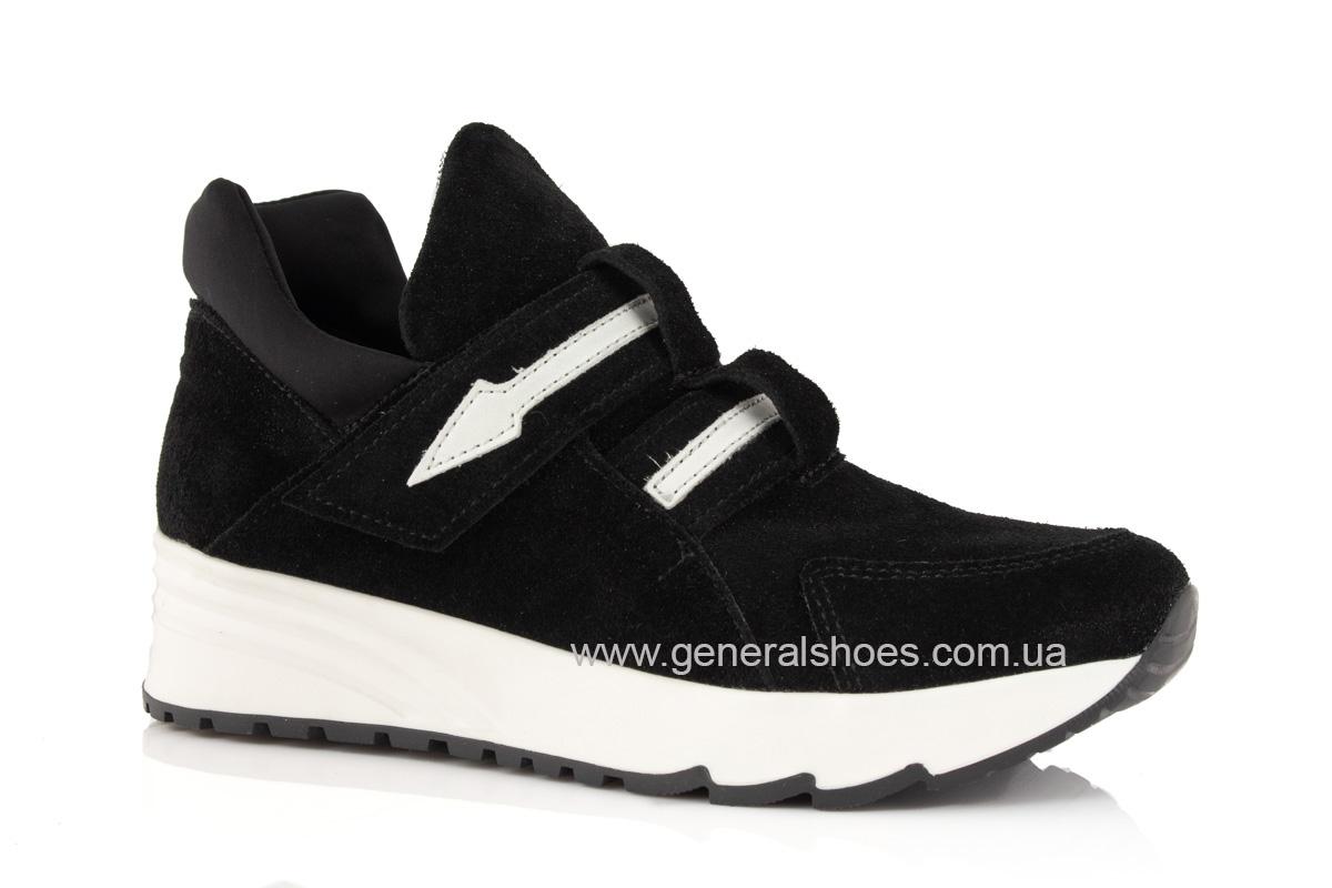Женские кроссовки C2 черные замша фото 1