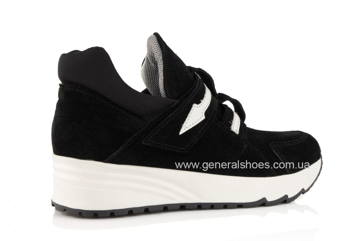Женские кроссовки C2 черные замша фото 2