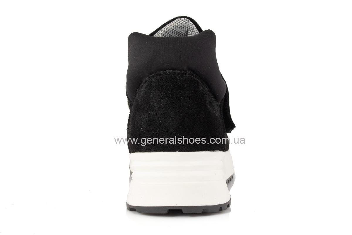 Женские кроссовки C2 черные замша фото 3