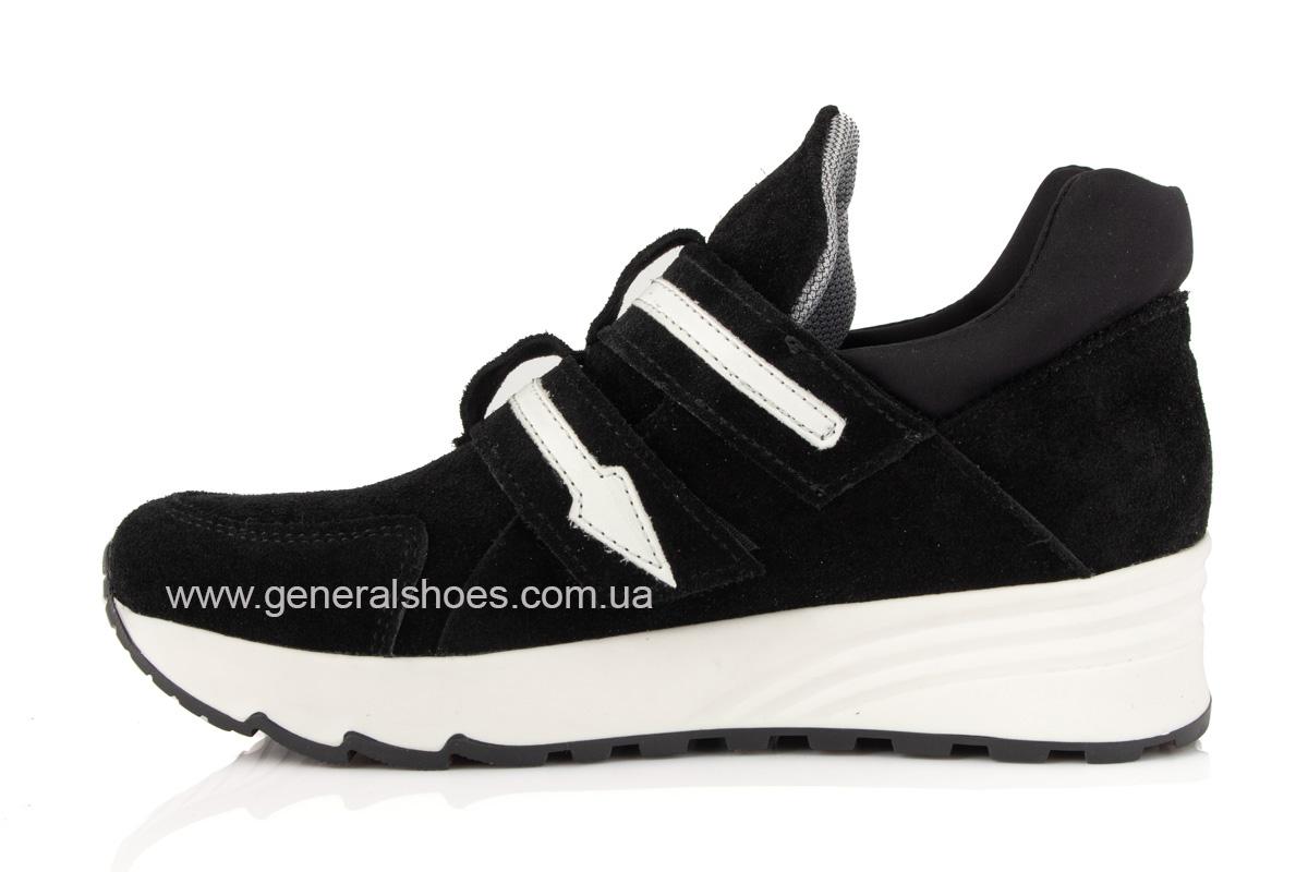 Женские кроссовки C2 черные замша фото 4