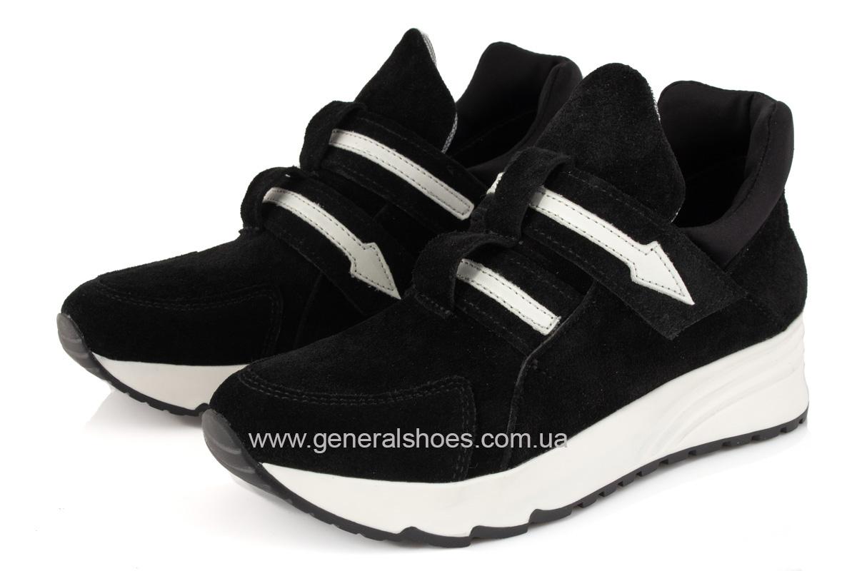 Женские кроссовки C2 черные замша фото 5