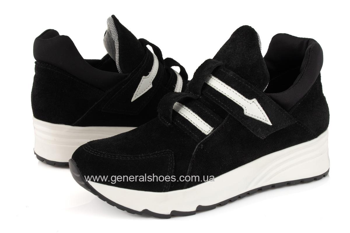 Женские кроссовки C2 черные замша фото 6