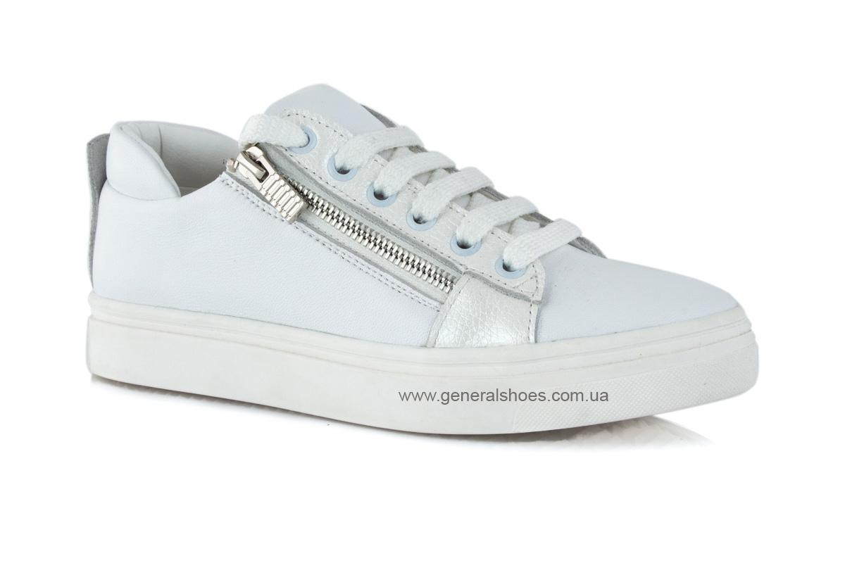 Кроссовки женские кожаные Р 215 белые фото 1