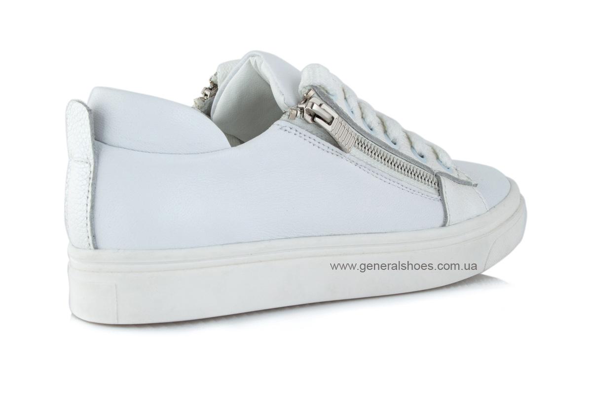 Кроссовки женские кожаные Р 215 белые фото 3